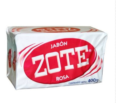 JABON EN BARRA ROSA, ZOTE DE 400 G