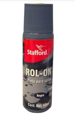 Tinta para sello color negro 1 pz 60 ml
