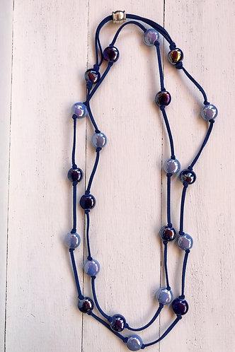 Collar Ada Bicolor Azules