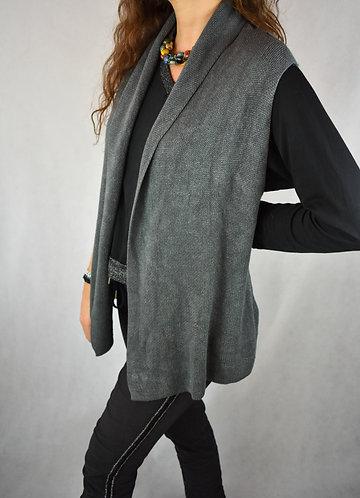 Chaleco solapa gris