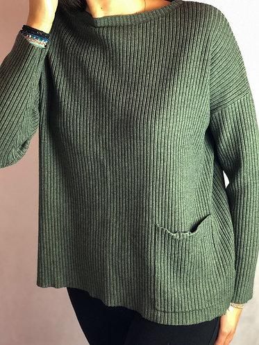 Jersey bolsillo verde