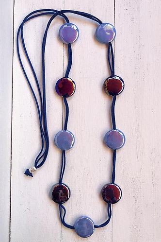 Collar Fiji Bicolor Azules