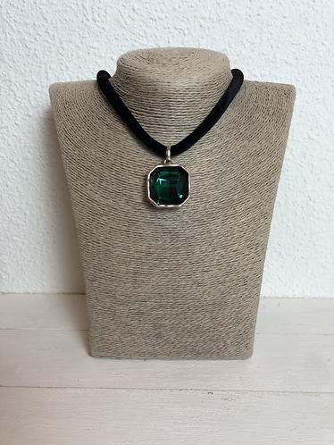 Gargantilla Cristal Verde/Negro
