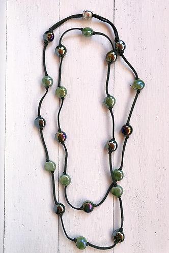 Collar Ada Bicolor Verde