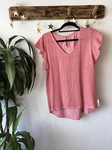 Camiseta algodón manga volante