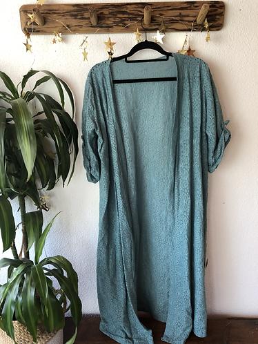 Kimono largo verde