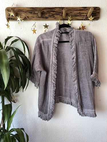 Kimono corto flecos