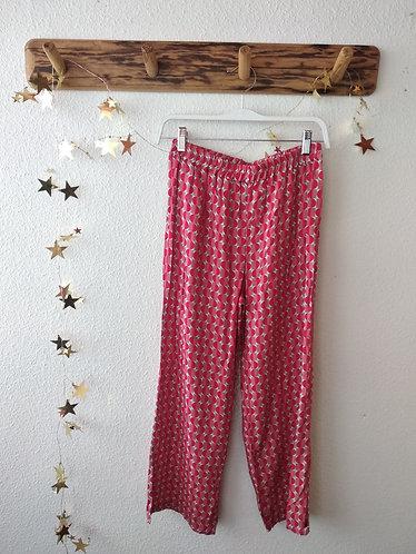 Pantalón estampado tela