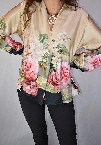Blusa sedosa estampado floral