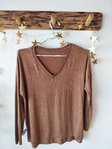 Jersey fino marrón