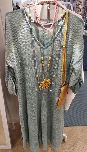Vestido verde bambula