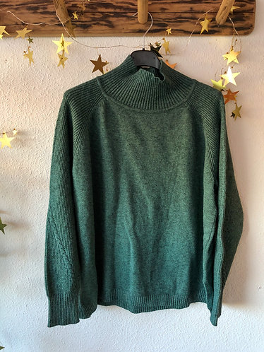 Jersey cuello alto verde