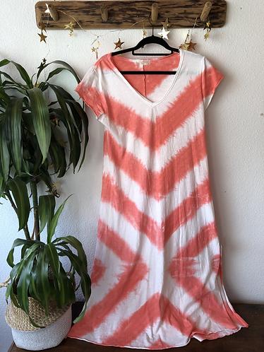 Vestido de algodón Tie-Dye