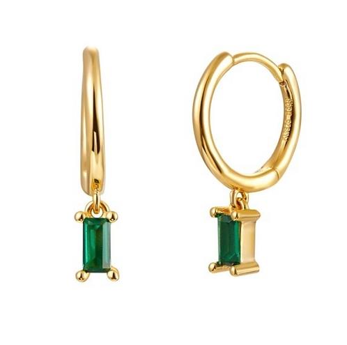 Pendientes Ónix Verde Gold