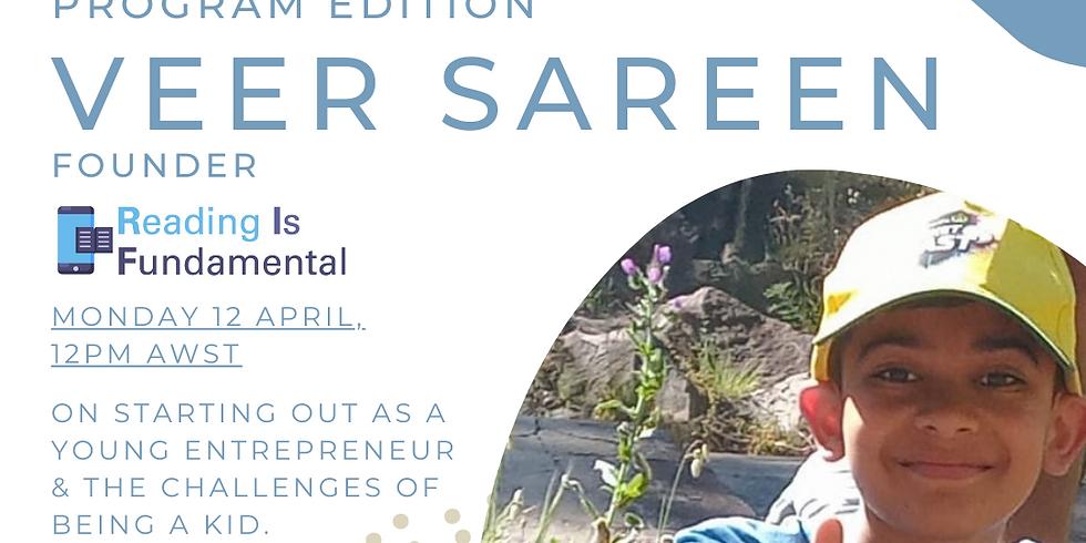 Special Edition Founder Stories - Kid-Entrepreneur: Veer Sareen, Founder, RIF