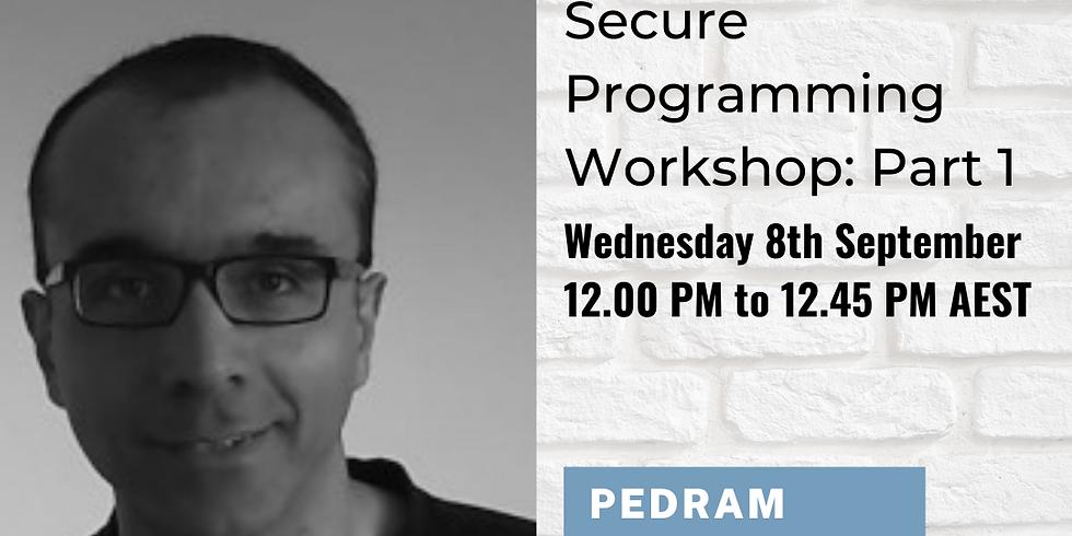 TSL Member for Member Workshop: Secure Programming Workshop - Part 1