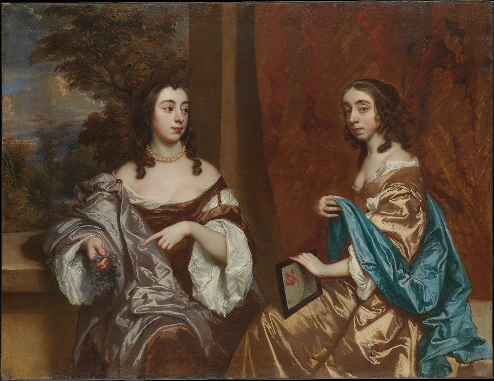 A fascination with plants ran in the Capel family, both Somerset anOil painting depicting Mary Capel, Later Duchess of Beaufort (left) and Her Sister Elizabeth.