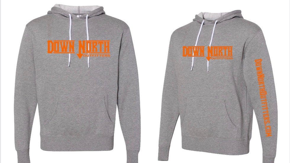 Gray Down North hoodie