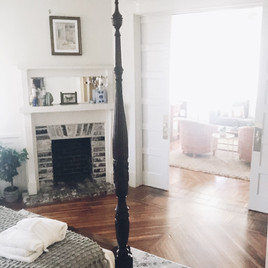 From bedroom into living area