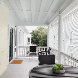 Porch from front of house
