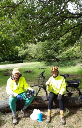 The Mosses completed a 40km bike ride