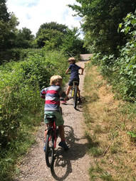 Ted, 7, and Arthur, 5, cycled 5km