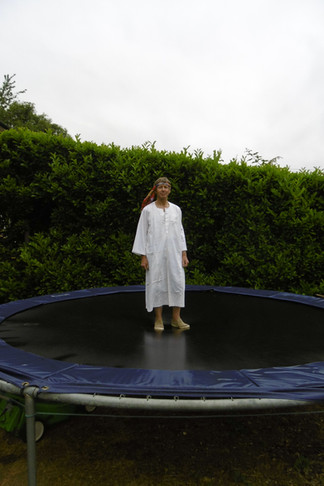 John bounced 5,000 times on a trampoline!