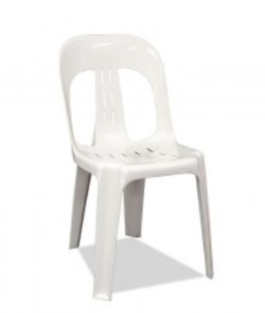 SOLID WHITE STACKABLE CHAIRS