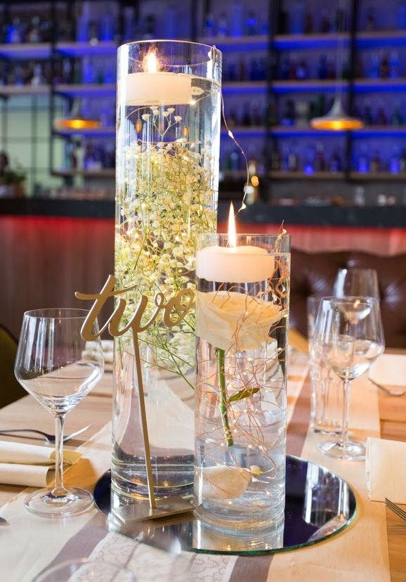 GLASS CYLINDER VASES & MIRROR BASE PLATES