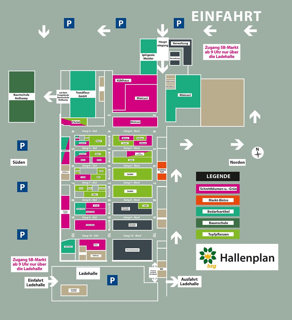 Hallenplan Blumengroßmarkt Frankfurt