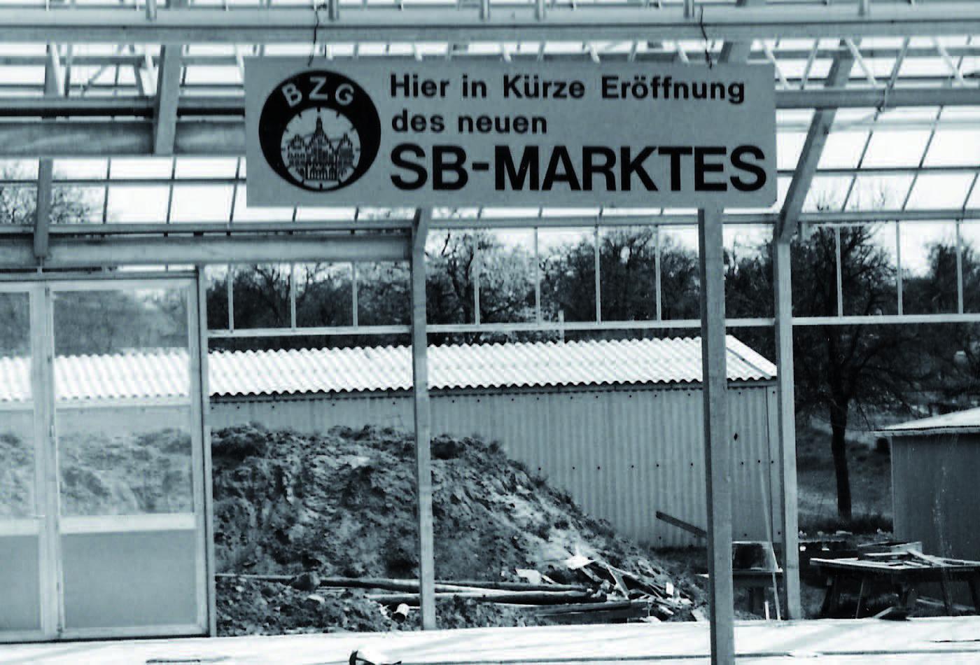 Ankündigung des neuen SB-Marktes
