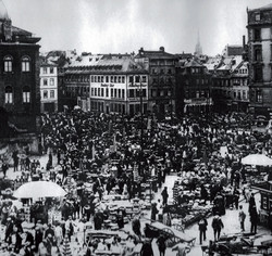 Markt in Frankfurt ca. 1920