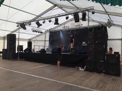 Bühne Festzelt Stadtfest Aue 2015