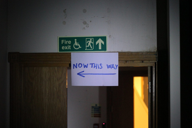 now this way