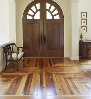 Mixed hardwood flooring