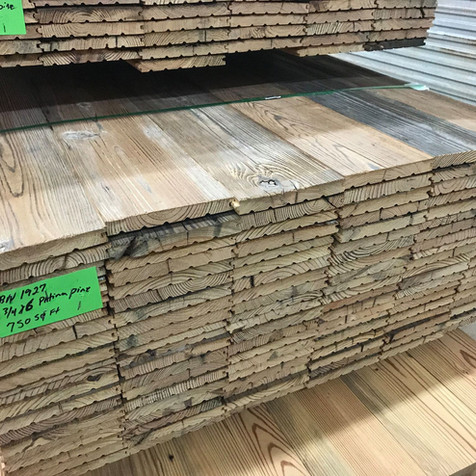 """Patina Pine 6"""" face with 750 SF for $6.50 PSF"""