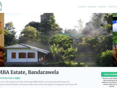 Lanka Hideaways publishes lovely write-up about AMBA Farmstay