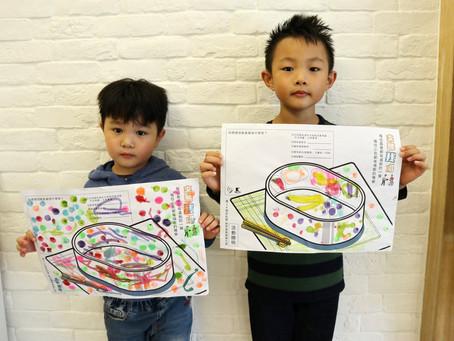 【兒童創作 一起為長輩畫一個便當!】小小兄弟參戰繪圖活動~
