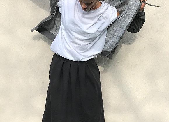 Pohodlná tepláková sukně - ANTRACITOVÁ - vel. XS-S