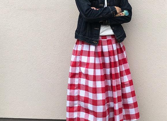 Pohodlná sukně z bavlněného plátna - vel. S-M
