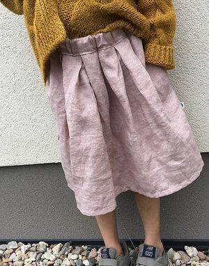 Dětská sukně z měkkčeného lnu