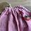 Thumbnail: Dětská sukně z měkkčeného lnu - ČERVENÁ