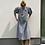 Thumbnail: Oversize šaty s nabíranými rukávy - ČERNOBÍLÁ KOSTKA, vel. M-L