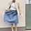 Thumbnail: Lněná sukně  - MODRÁ - vel. 38 (M)
