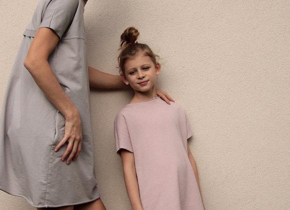 Úpletové bavlněné šaty - MODRÉ