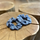 Thumbnail: Látková lněná gumička - MODRÁ