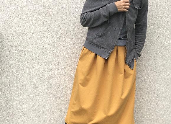 Pohodlná tepláková sukně - OKROVÁ - vel. XS-S