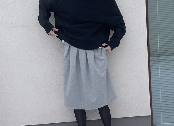 Pohodlná tepláková sukně - ŠEDÁ - vel. S