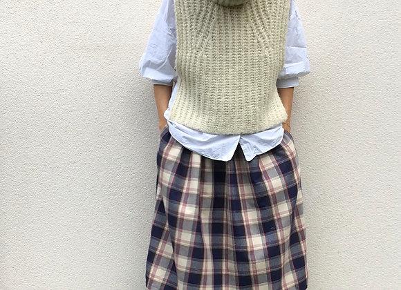 Pohodlná sukně z teplejší bavlněné košiloviny - vel. S