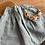 Thumbnail: Dětská sukně z měkkčeného lnu - ZELENÁ